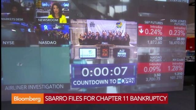 News video: Sbarro Files for Chapter 11 Bankruptcy in New York