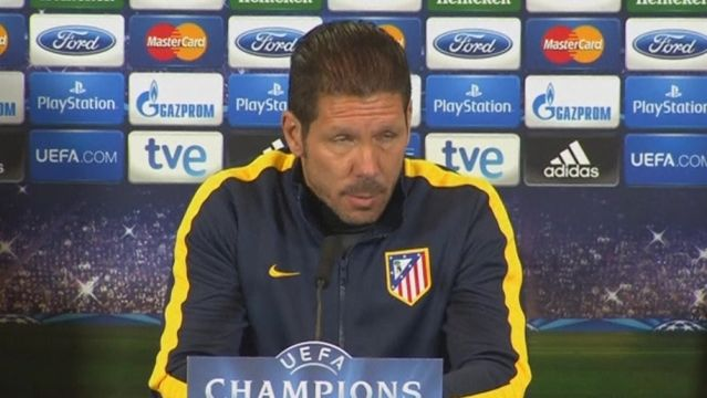 News video: Atletico Madrid must control midfield to foil Milan fightback says Simeone