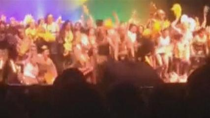 News video: Amateur video captures high school stage collapses