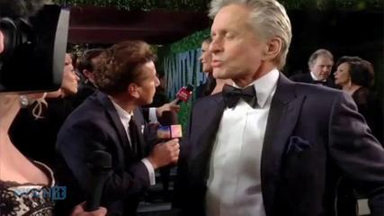 News video: Michael Douglas And Catherine Zeta-Jones Hold Hands During Dinner Meeting