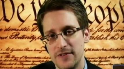 "News video: Snowden: NSA data collection ""not consonant with our Constitution"""